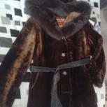Шуба мутон + шапка и шарф, Новосибирск