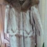 Норковая шуба с капюшоном из полярной лисы р-48, Новосибирск