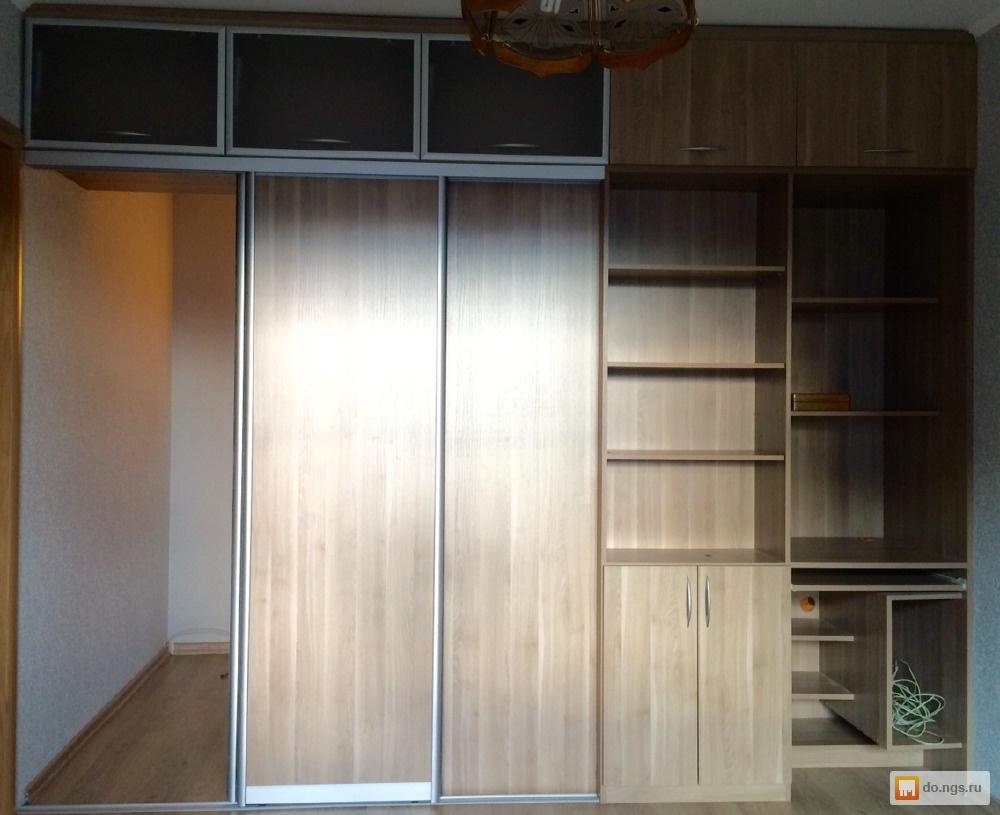 Двухсторонний шкаф купе вместо стены фото