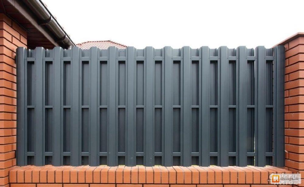 закон Кирхгофа: забор из металлического штакетника двусторонний поведения