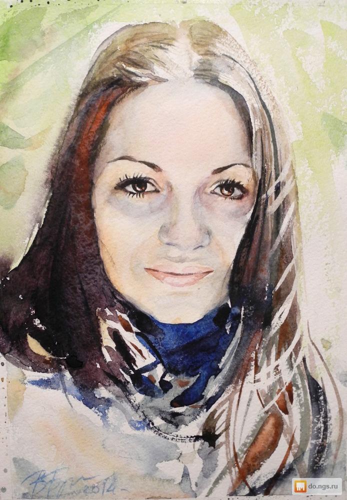 портрет по фотографии на заказ акварель дуплексов Нижнем