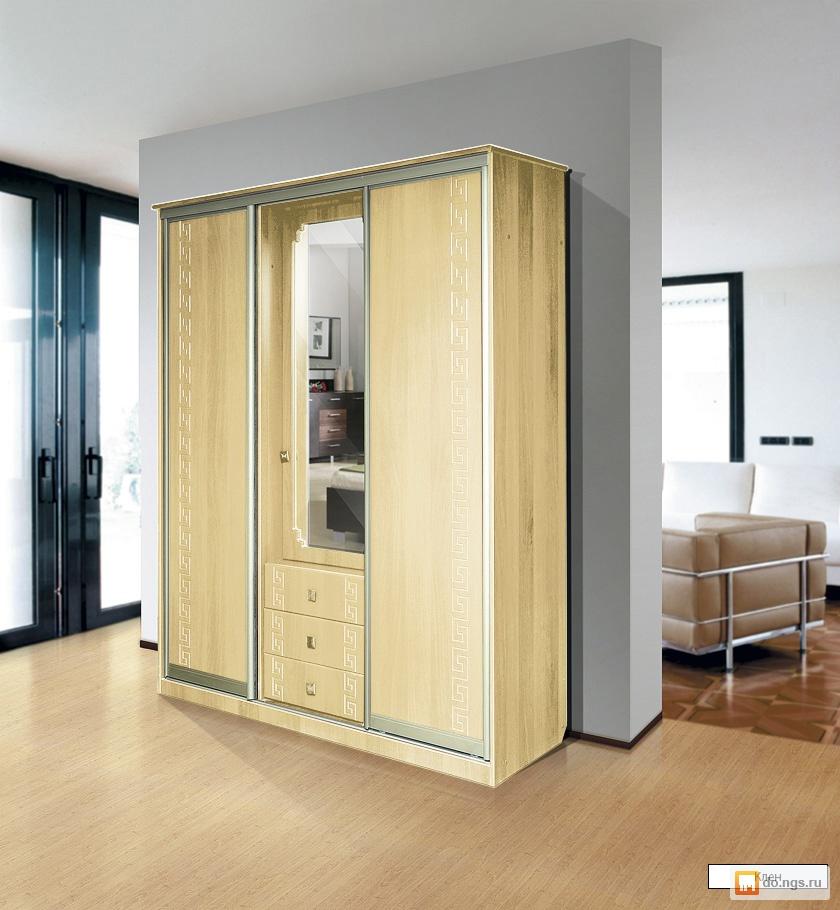 Шкаф-купе 3х дверный 1700 с распашной дверью (ас-м) , фото. .