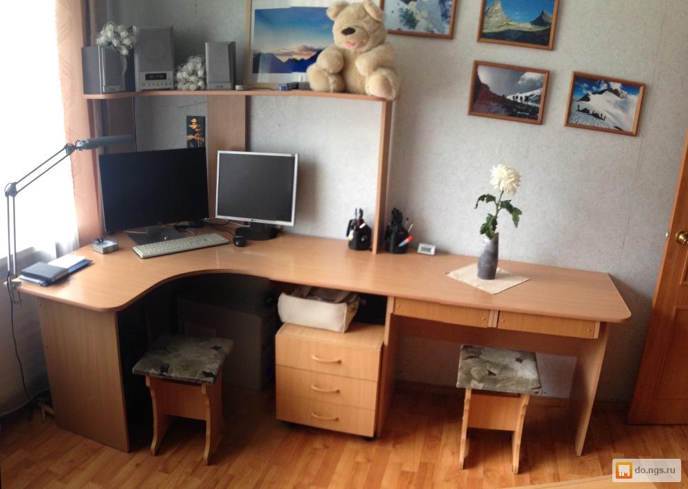 Продам компьютерный стол на два места! б/у, фото. цена - 700.