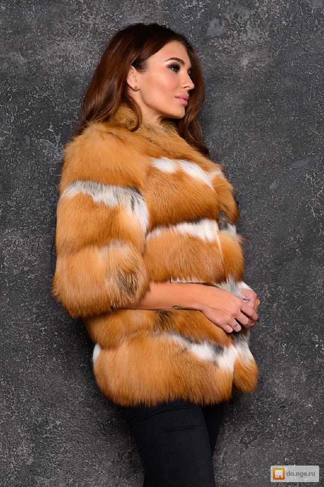 Шуба из рыжей лисы цена