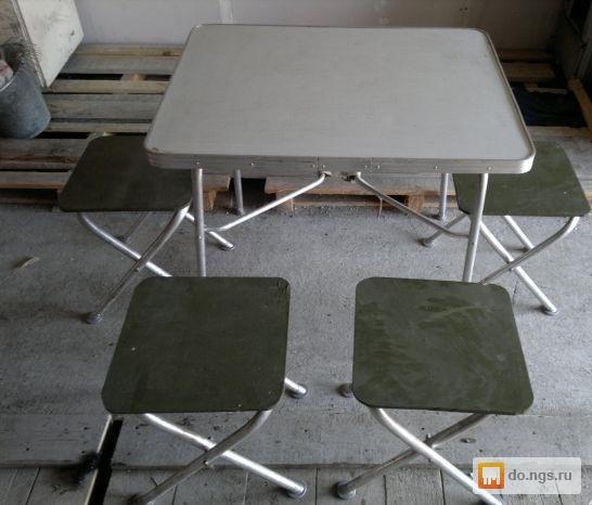 стол и стулья армейский полевой фото было