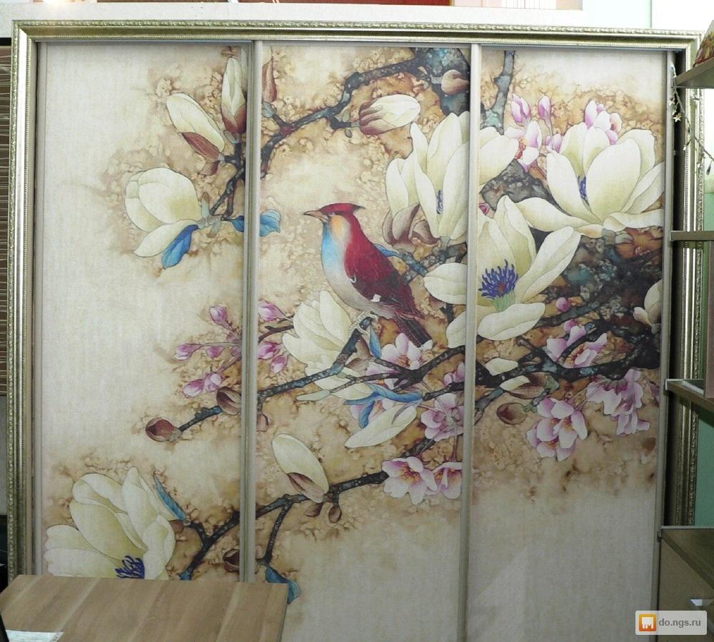 Фотопечать на шкаф купе птицы