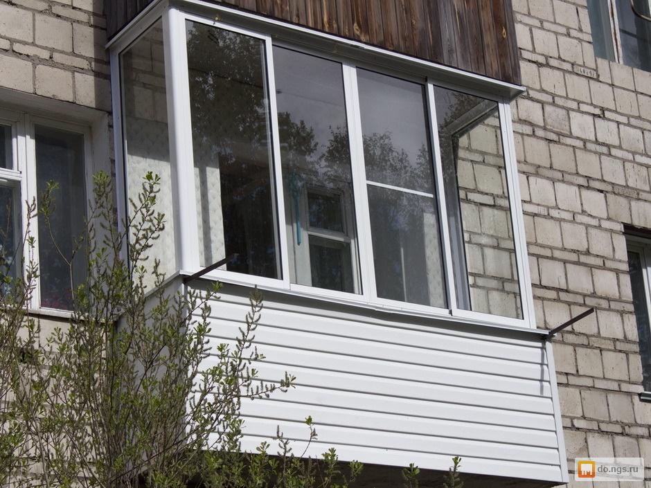 Фото остекления балконов в раменском