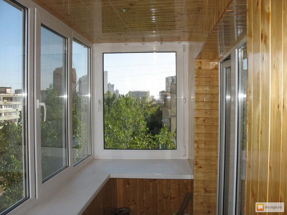 Остекление балконов и лоджий, отделка в москве, цены на внут.