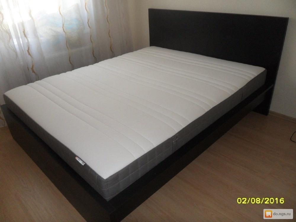 Икеа купить кровать двуспальную с матрасом