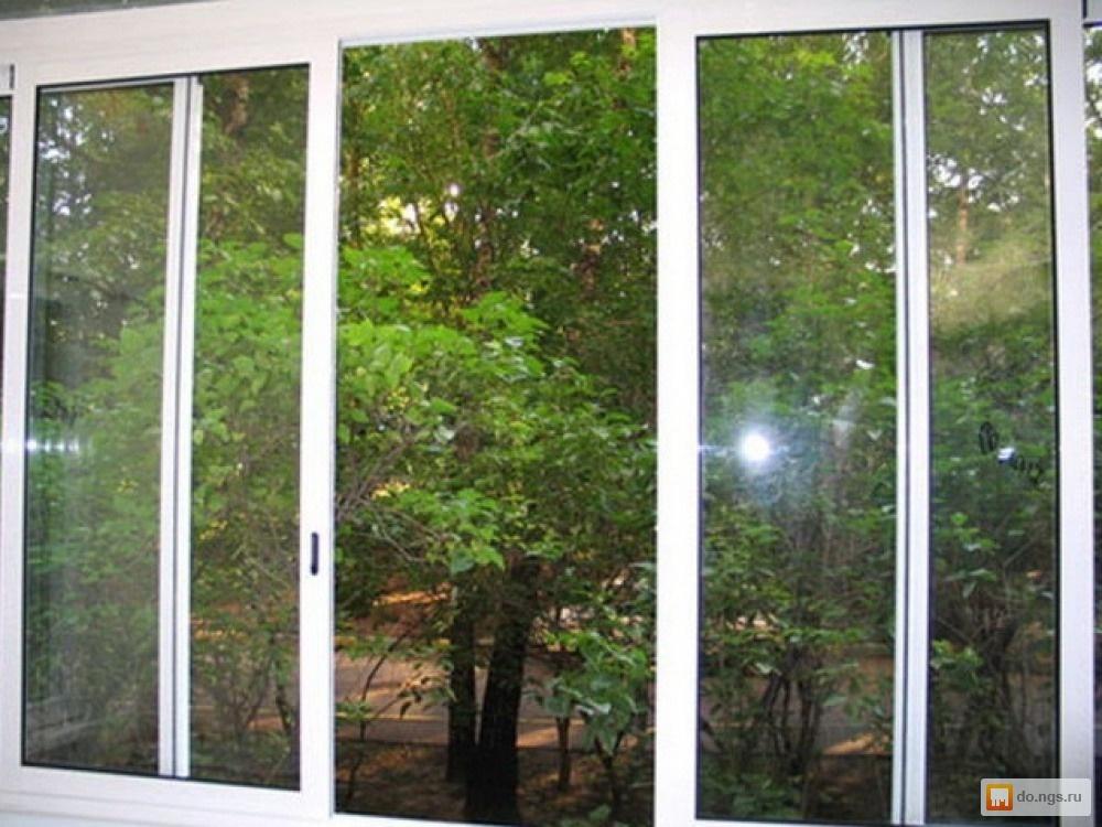 Алюминиевые раздвижные окна для лоджии б/у. цена - договорна.