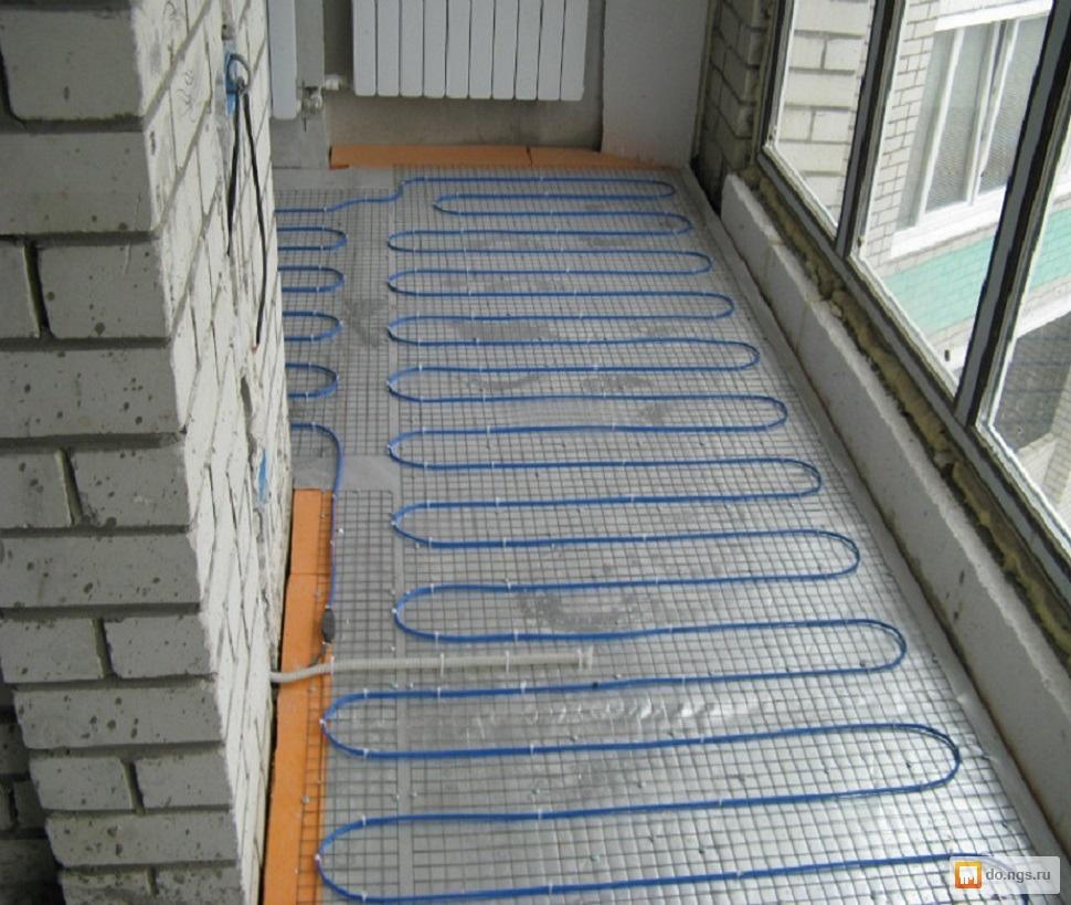 Теплый пол на холодном балконе.
