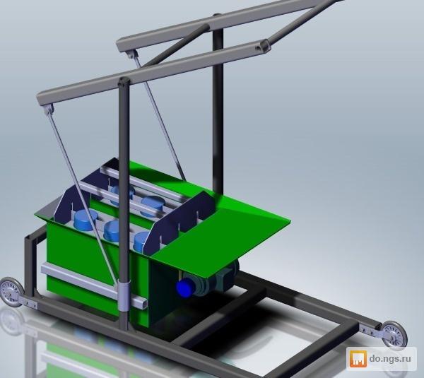 самодельное оборудование для производства шлакоблоков
