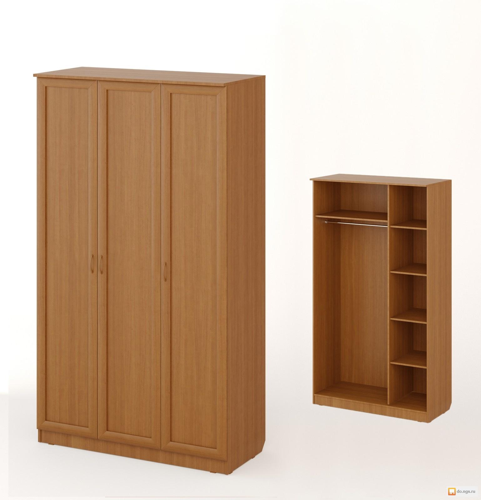"""Мебель - шкаф распашной 3хстворчатый """"рамочный"""" шк/р-06 -бук."""