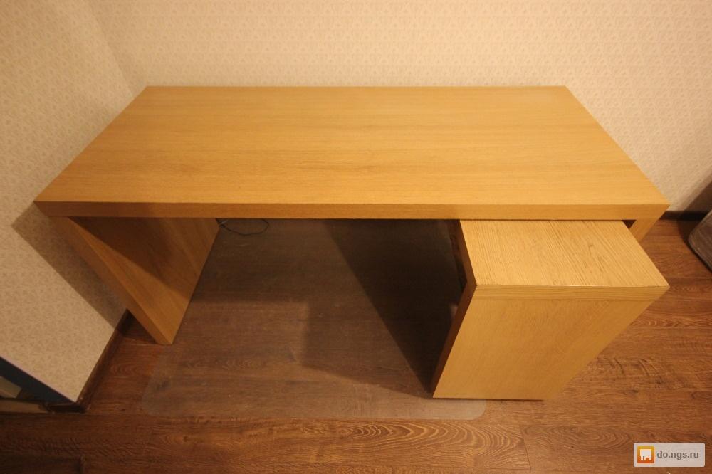 Письменный, компьютерный стол с выдвижной панелью икеа мальм.