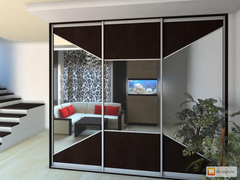 Зеркальные двери купе 2шт 2600*900 , фото. цена - 14000.00 р.