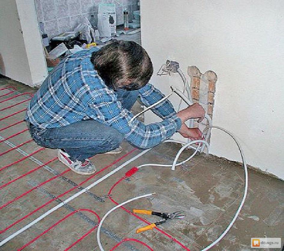Как сделать электрический теплый пол своими руками: особенно.