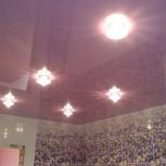 Натяжные потолки в ванной с фотопечатью 4 кв.м (шт.), Новосибирск