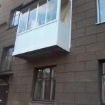 Балкон с крышей П-образный (длина 2300мм), Новосибирск