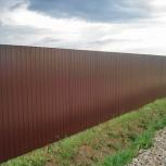 Забор из профнастила с установкой, Новосибирск