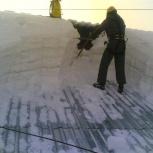 Сброс снега с крыш и наледи, Новосибирск
