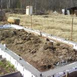 Опалубка для фундамента из пенополистирола (пенопласта), Новосибирск