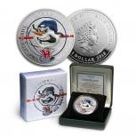 """Монета в подарок ХК """"СИБИРЬ"""". Ниуэ 1 доллар 2013. Серебро, Новосибирск"""