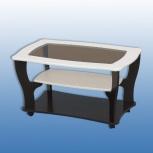 Стол журнальный-3 со стеклом! Большой ассортимент мебели для дома!, Новосибирск