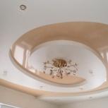 Натяжной потолок в спальне двухуровневый 15 кв.м (шт.), Новосибирск