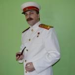 Экспресс-аниматор в образе Сталина и ростовая кукла Гоги-стриптизёр, Новосибирск