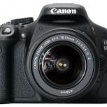 Продам фотоаппарат Canon 600D kit, Новосибирск