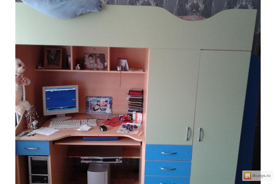 Продам детскую кровать, шкаф и стол(3 в одном) , фото. цена .