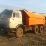 Камаз-самосвал 13т, 9 куб. Услуги. Вывоз мусора.Доставка сыпучих., Новосибирск