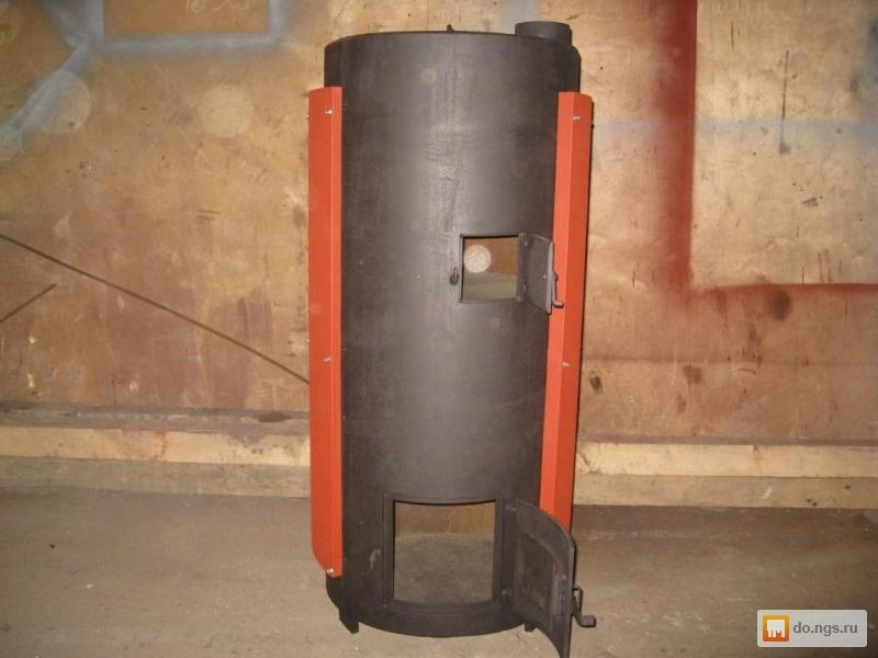 Печь из газовой трубы в баню