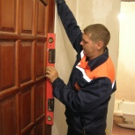Монтаж дверей. Ремонт дверей. Установка, врезка замка, Новосибирск
