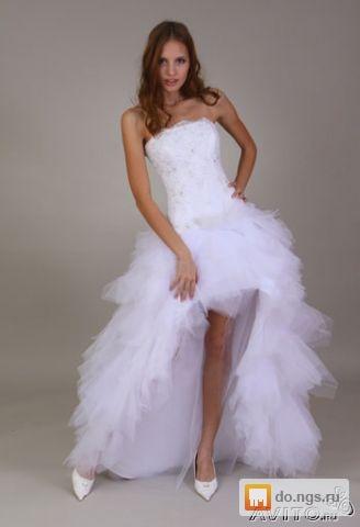 b858107da499f5f Кокетливое платье (спереди короткое, сзади длинное) б/у, фото. Цена ...