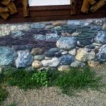 натуральный природный камень окатыш, сланец, гранит для камина, Новосибирск