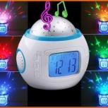 Музыкальный будильник, термометр, календарь, проектор звездного неба!, Новосибирск