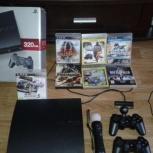 игровая приставка Sony PlayStation 3 320Gb с дисками, Новосибирск