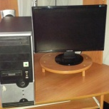 """Компьютер 2 ядра, DDR 2GB, HDD 320Gb, V-1GB + ЖК монитор 17"""", Новосибирск"""