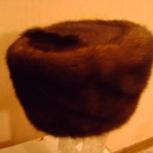 Продам новую женскую шапку 57-58 норка коричнев фасон боярка, Новосибирск