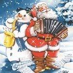 Колоритный Дед Мороз с аккордеоном, Новосибирск
