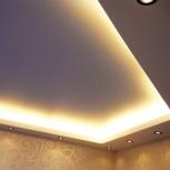 Натяжной потолок в коридоре 7 кв.м со светодиодной подсветкой шт., Новосибирск