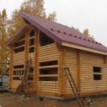 Дом 8,1х7,3м из оцилиндрованного бревна 200мм., Новосибирск