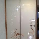 Двери-купе пескоструйные рисунки на зеркале, Новосибирск