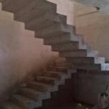 Бетонная монолитная лестница, Новосибирск