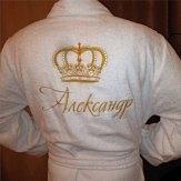 Именная вышивка на халате новосибирск