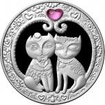 """Монета """"Моя Любовь"""" Беларусь. 20 рублей .2011 год. Серебро, Новосибирск"""