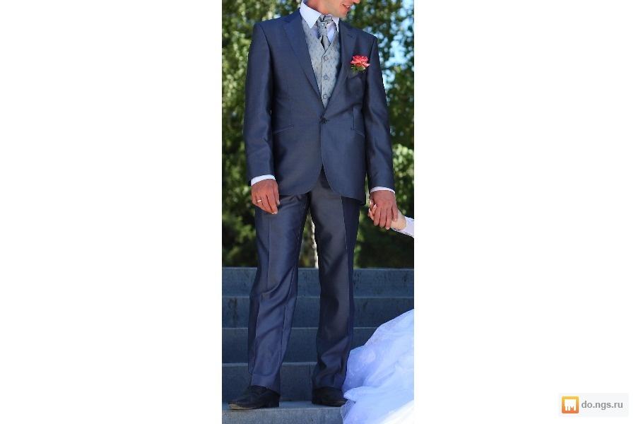 579de50a9448 Продам мужской костюм темно- серого цвета,к ниму идет стильная жилетка и  галстук светло- серого цвета, все за 6000 руб, почти новый, одивался один  раз на ...