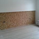 плитка из натурального дерева, монтаж, Новосибирск