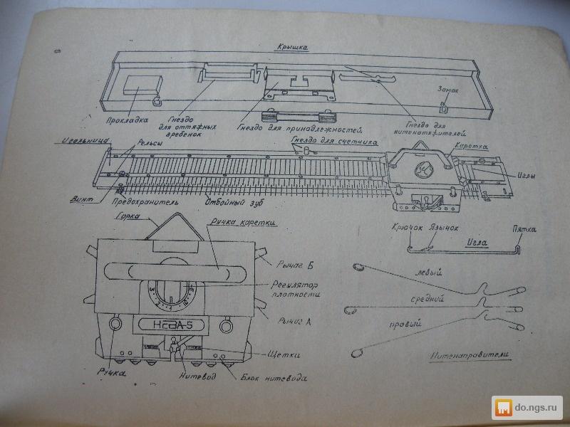 Нева 5 вязальная машина инструкция